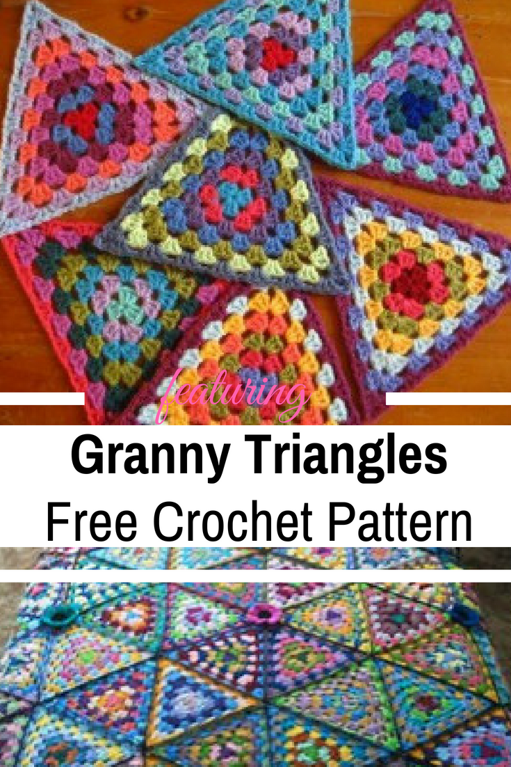 [Free Pattern + Video Tutorial] These Granny Triangles Are Quick And Easy To Make And Look Absolutely Gorgeous!