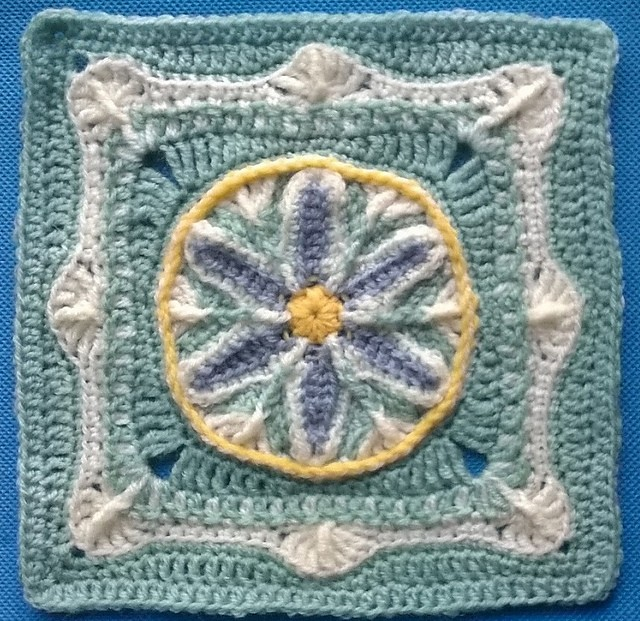In Like a Lamb, Out Like a Lion Afghan Block by Margaret MacInnis