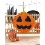 [Free Pattern] Jack'o Lantern Dishcloth To Bring The Halloween Celebration Into Your Kitchen