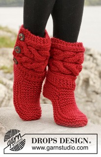 Little Red Riding Slippers by DROPS Design