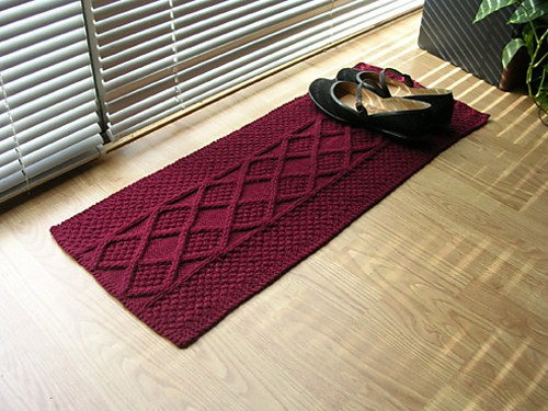 One Skein Shoe Rug by Art Fiend