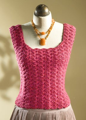 This shell-stitch tank top is perfect for a starter project.