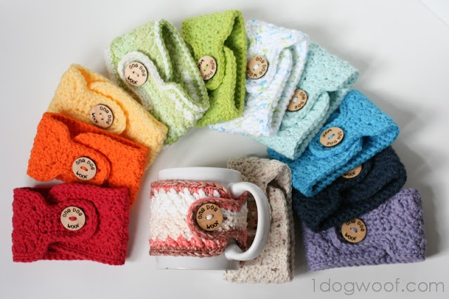 WARM AND TOASTY – CROCHET MUG COZIES