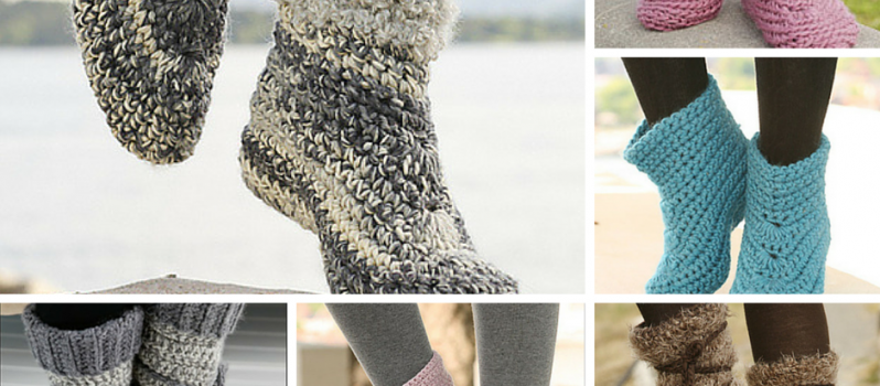 Free Patterns Amazingly Cozy Looking Crochet Slipper Boots