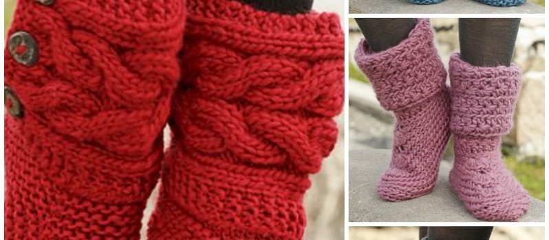 Free Pattern Amazingly Cozy Looking Slipper Boots Knit And