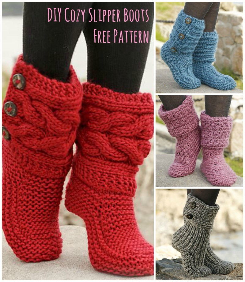 [Free Pattern] Amazingly Cozy-Looking Slipper Boots - Page ...