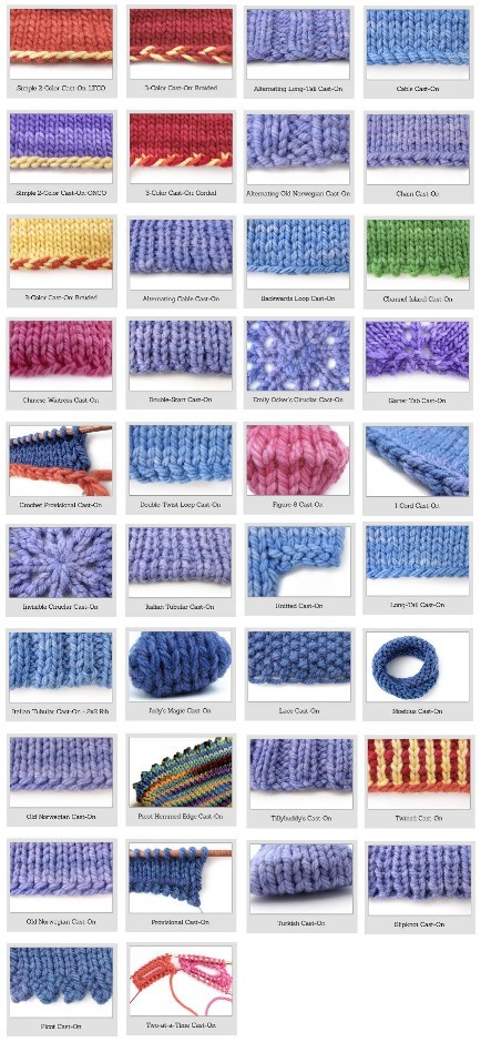 Types Of Knitting Stitches Pictures : Knitting For Beginners: 38 Different And Awesome Cast-on Stitches