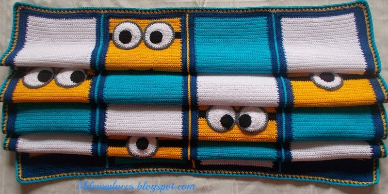 Free Knitting Pattern For Minion Blanket : [Free Pattern] Everyone Likes This Minions Blanket! - Knit And Crochet Daily