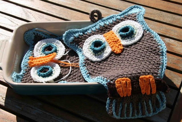 owl potholder cute