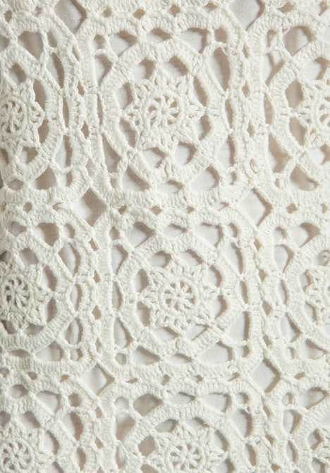 the pattern for the Joie Elida Crochet Overlay dress sold by Neiman Marcus.