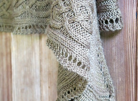 Free Pattern Absolutely Stunning Light Weight Cables Shawl For A