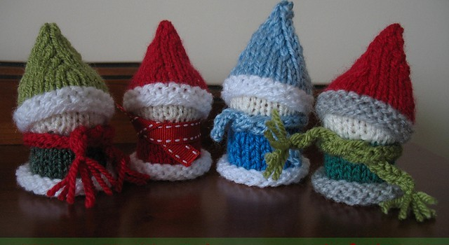 Knitting Pattern For Elf On The Shelf : [Free Pattern] These Christmas Cork Elves & Pals Are Way Too Cute! - Knit...