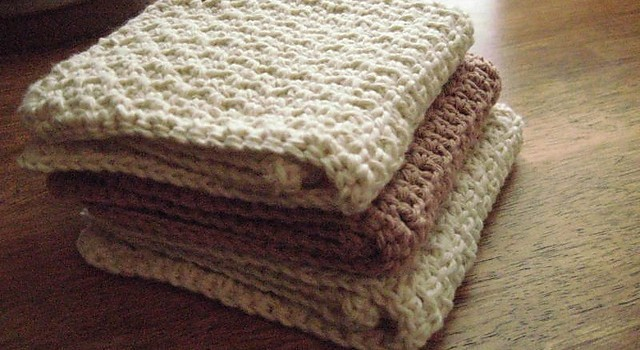 Free Pattern Quick Easy Knit And Crochet Dishcloth Pattern