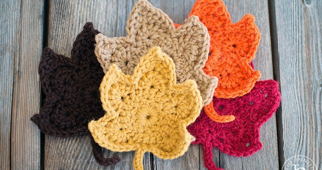 Free Pattern Lovely Crochet Leaves For The Fall Lovers