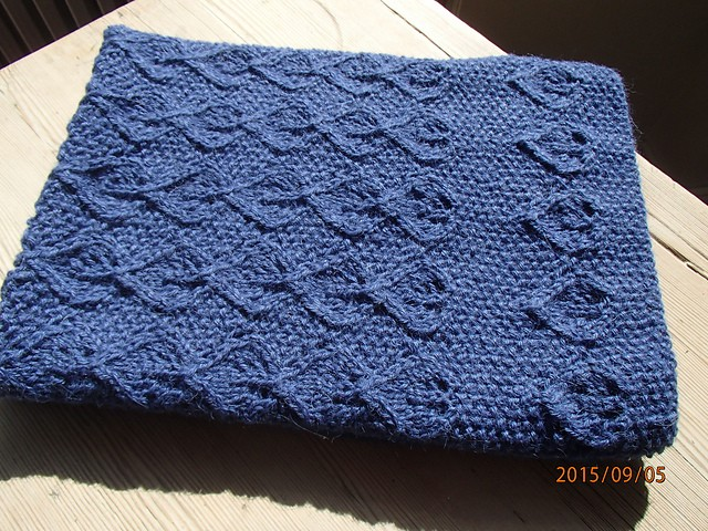 First leaves baby blanket by Anne B Hanssen