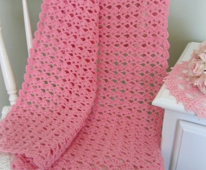 [Free Pattern] Very Pretty Baby Blanket And A Lovely ...