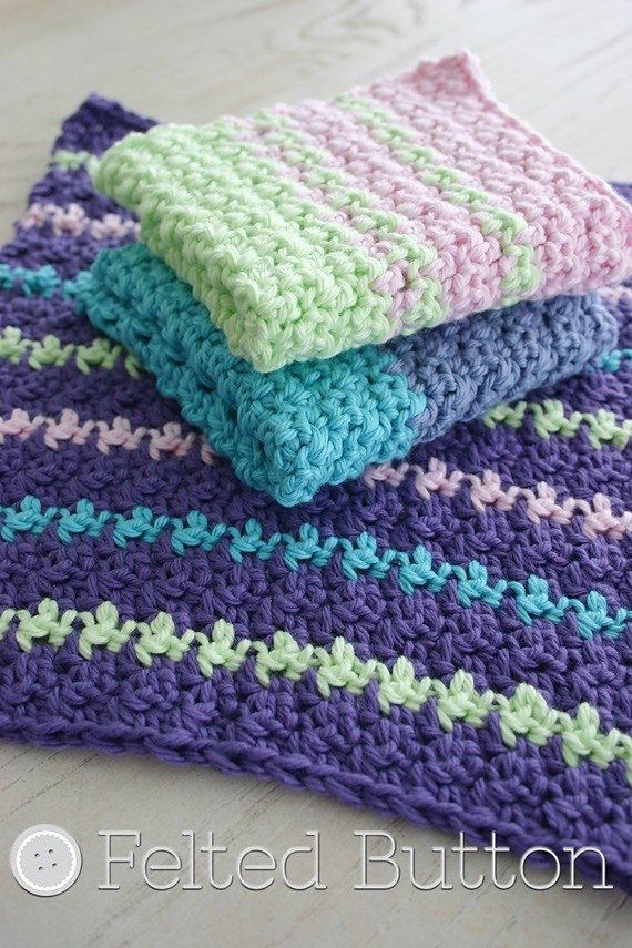 [Free Pattern] My Mama Loves Handmade Washcloths And Dishcloths