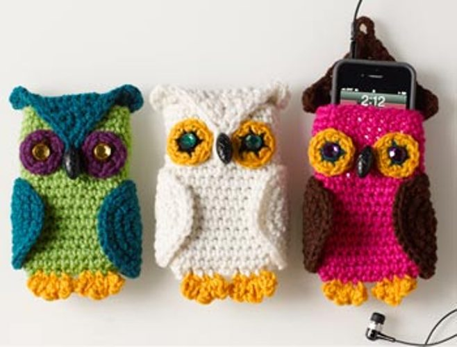 Owl Cell Phone Cozy by Linda Cyr