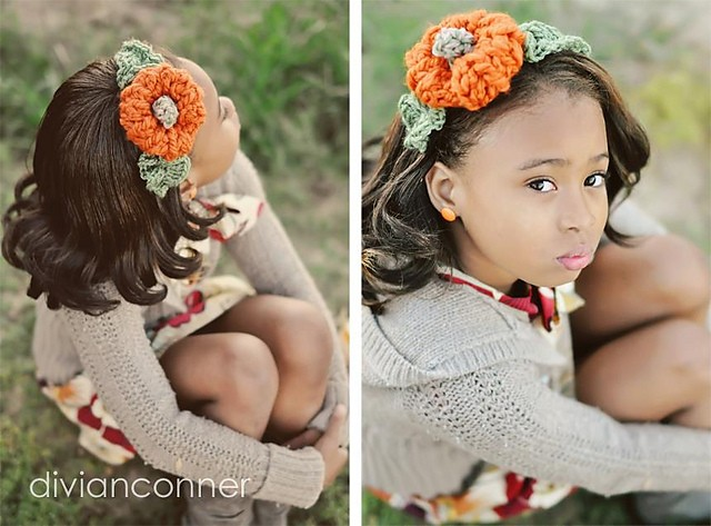 Pumpkin headband by Tanya Bernard