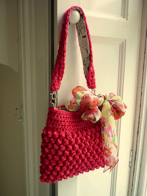 Raspberry Bag by P.S. I crochet