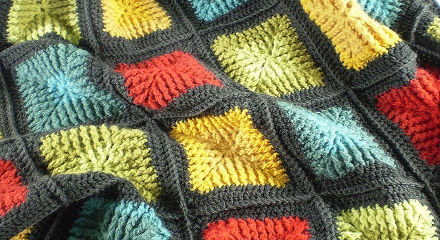 Free Pattern Amazing Shaded Squares Blanket - Knit And ...
