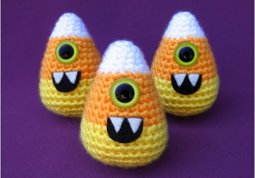 Free Pattern This Cyclops Candy Corn Crochet Pattern Is An