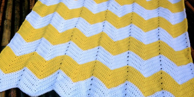 Free Pattern Amazing Chevron Baby Blanket Knit And Crochet Daily
