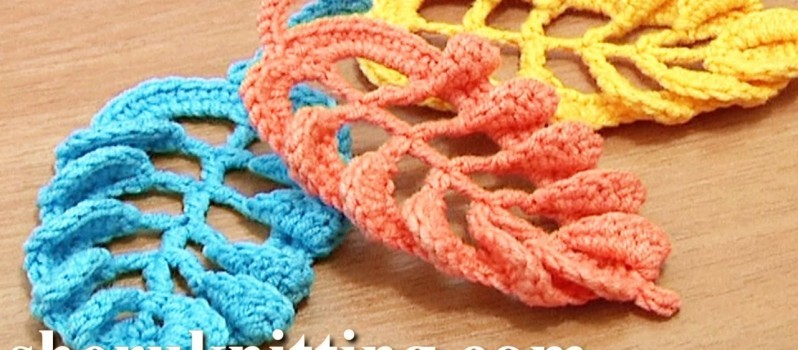 Video Tutorial Gorgeous 3d Crochet Leaf Made Of Tall Stitches