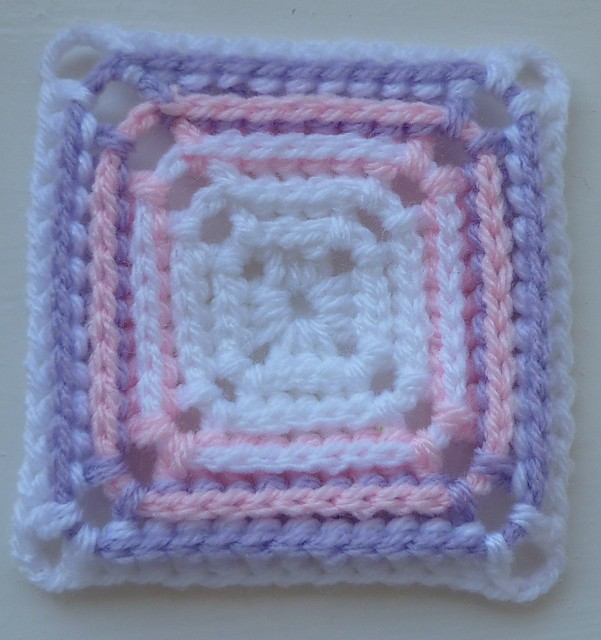 Crochet Patterns Block Afghan : [Free Pattern] Adorable Back Post Double Crochet Afghan ...