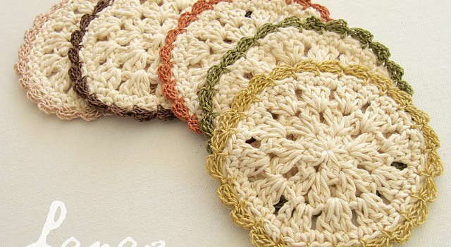 Free Pattern A Simple GrannyLike Crochet Coaster Made On The - Coasters made from photos