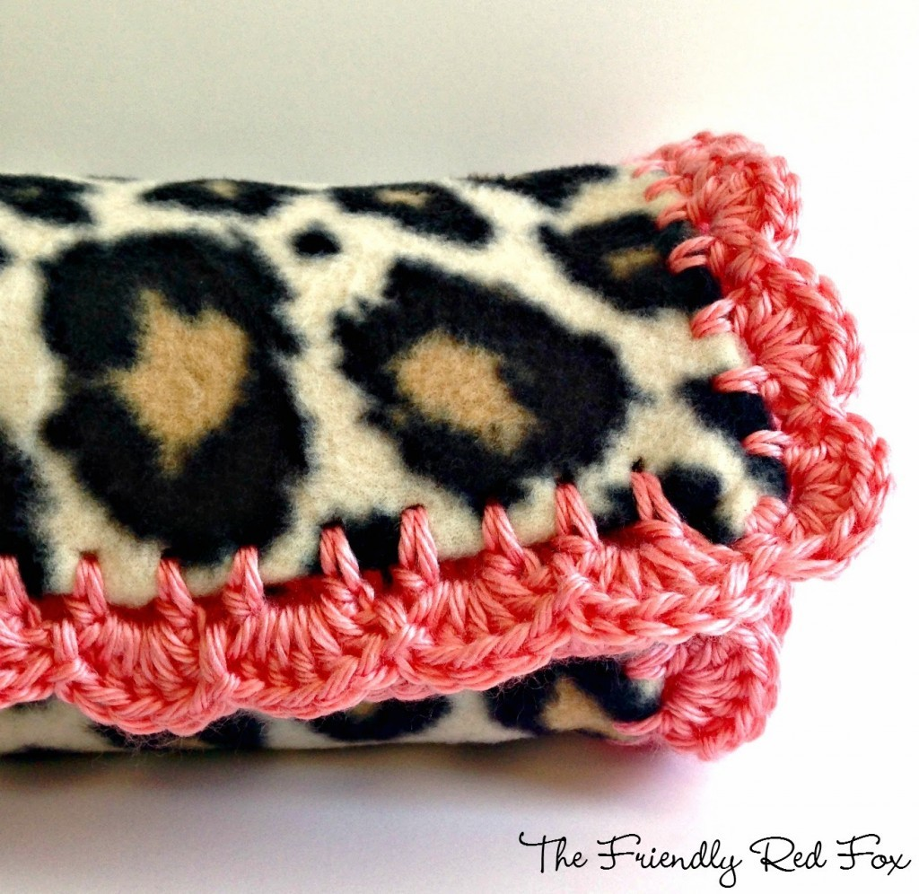 How To Add A Beautiful Crochet Edge To A Fleece Baby Blanket