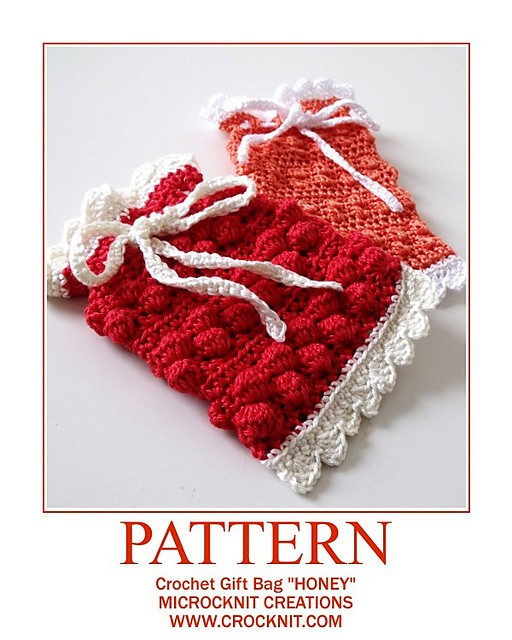 [Free Pattern]This Little Crochet Gift Bag Is Easy To Make And Adjust To Whatever Size You Desire