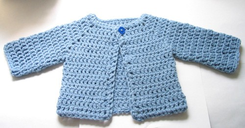 Free Pattern Adorable Crocheted Baby Sweater Knit And Crochet Daily