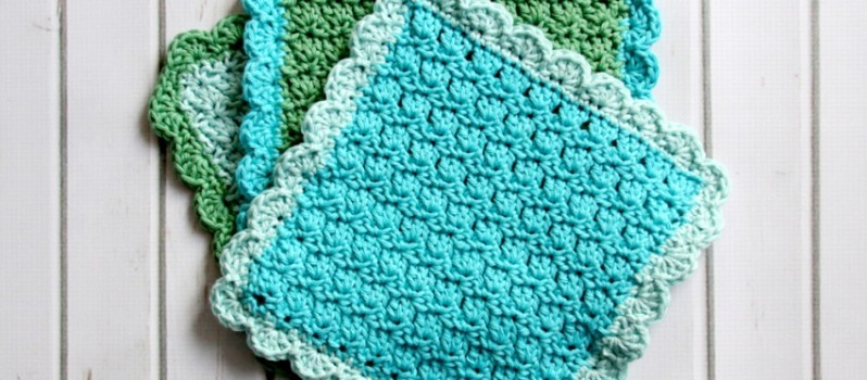 Free Pattern Precious Little Easy To Make Dishcloths Knit And