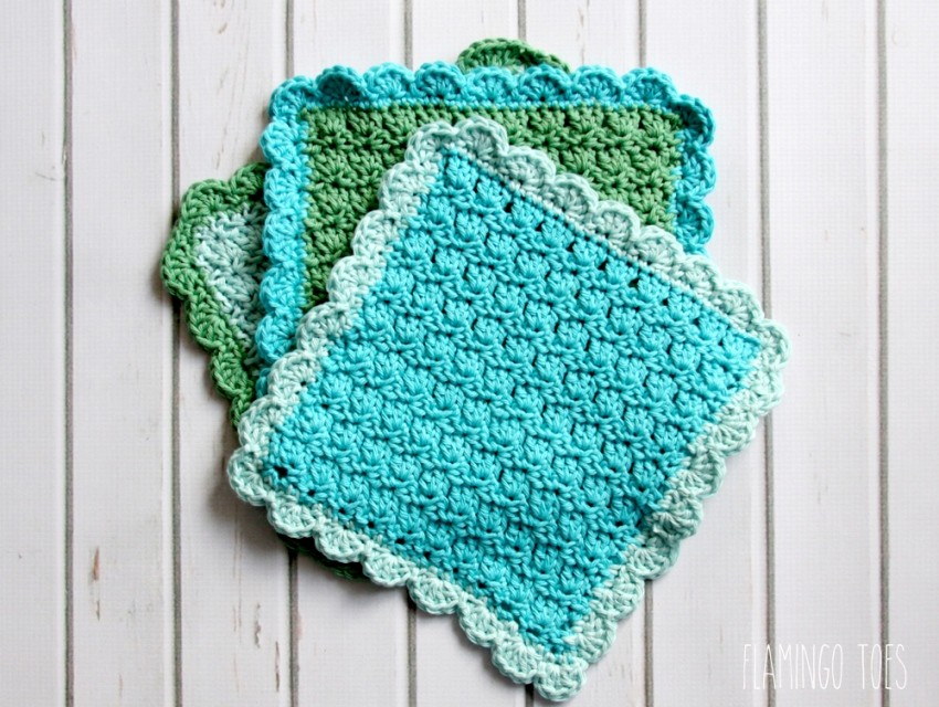 Free Pattern] Precious Little -Easy To Make- Dishcloths - Knit And ...