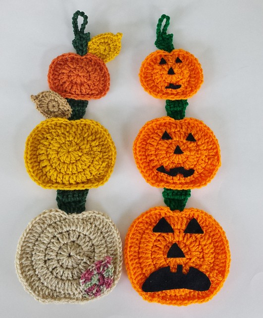 Falling Pumpkin Wall Hanging by Aurora Suominen