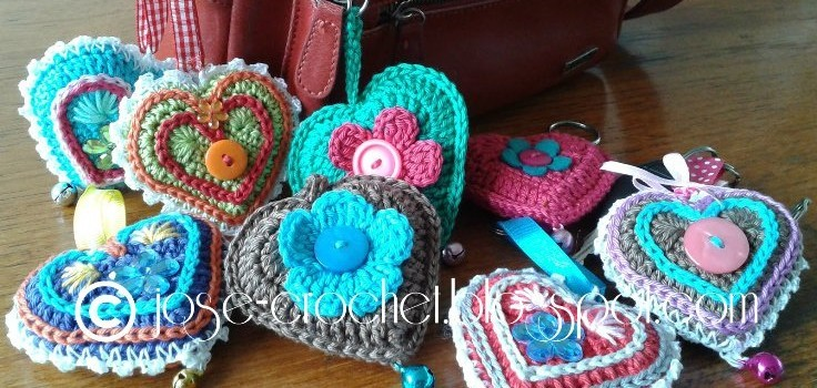... Most Adorable Crochet Heart Keychain Ever! - Knit And Crochet Daily