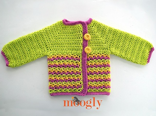 Loopy Love Baby Sweater by Tamara Kelly