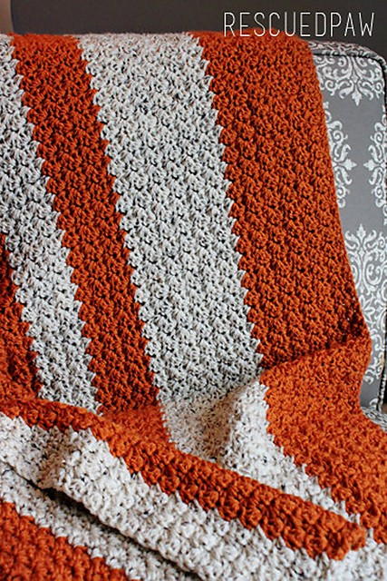 Pumpkin Tweed Blanket