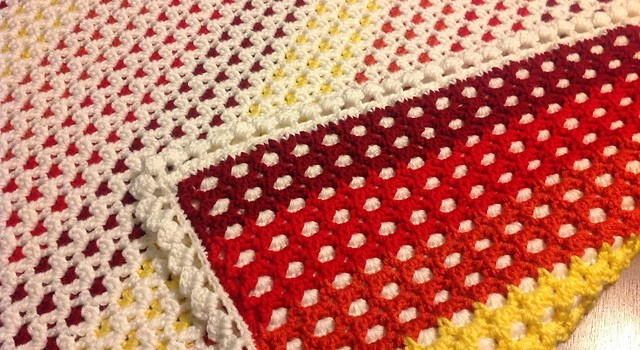 Free Pattern Gorgeous Reversible Baby Afghan For More Warmth And