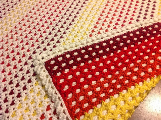 [Free Pattern] Gorgeous Reversible Baby Afghan For More ...