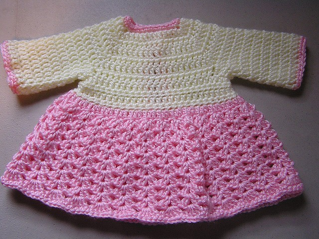 [Free Pattern] Very Quick And Easy Crochet Baby Dress ...