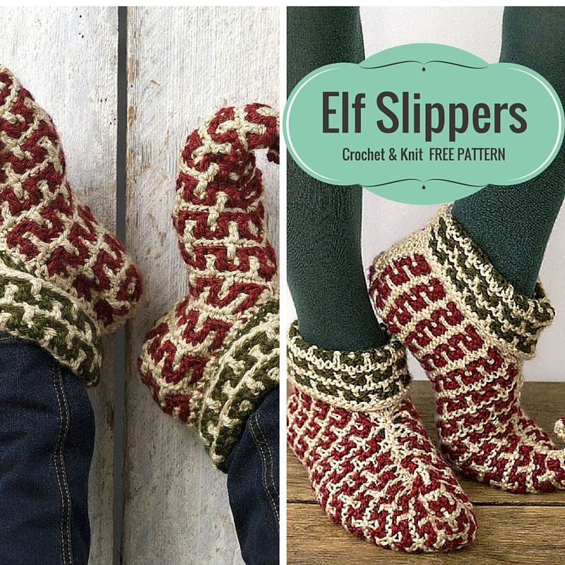 Free Pattern] Cutest Elf Slippers To Tippy Toe Around A Tree - Knit ...