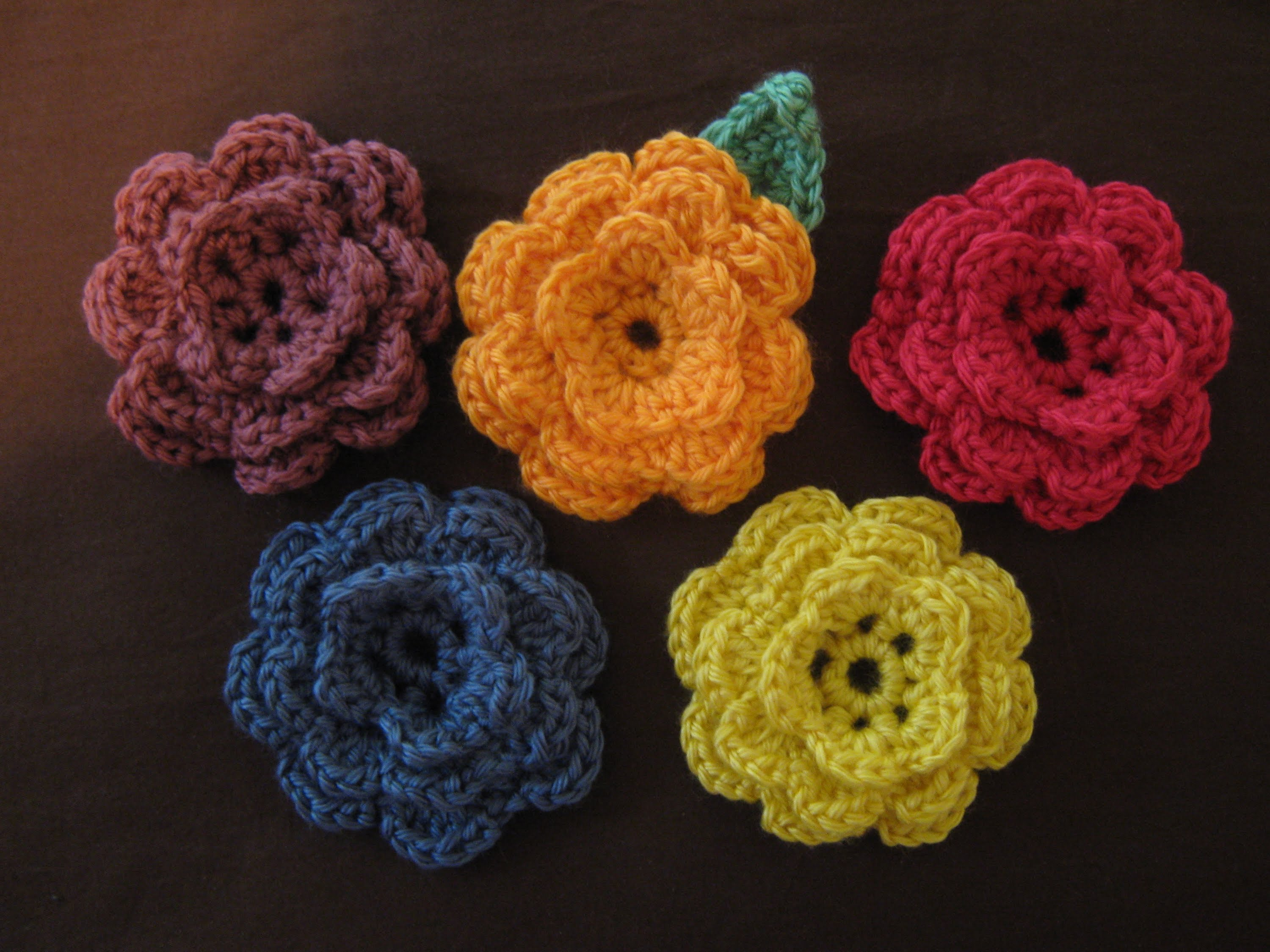 Crochet Daily : ... To Make A Lovely Crochet Flower For Headband - Knit And Crochet Daily