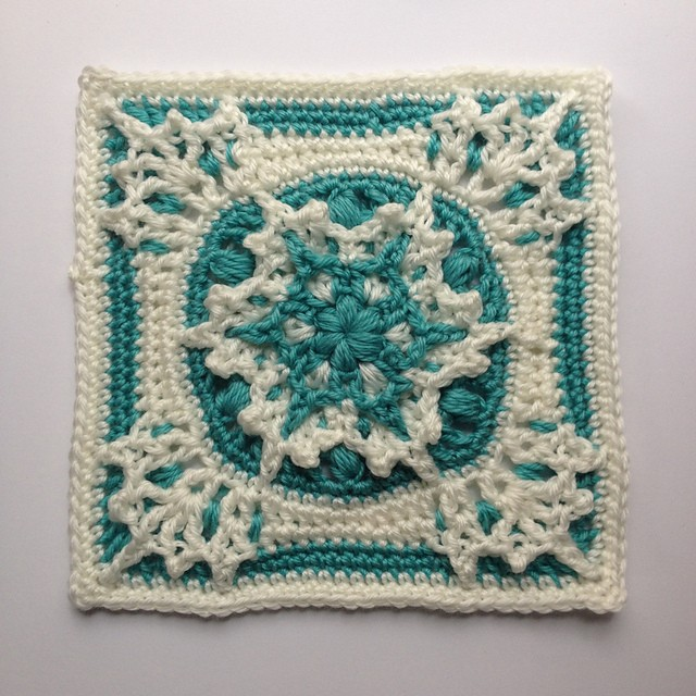 Free Crochet Patterns 6 Inch Squares : [Free Pattern] This Blizzard Warning 9 Inch Square Is ...