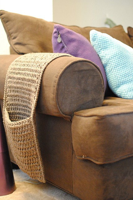 Crochet Couch Caddy by Jessica Marini
