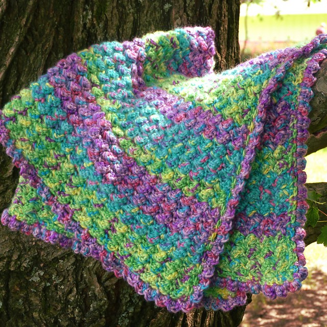 [Free Pattern] Fun Jungle Rhythm Baby Blanket Soft To The Touch But With Lots Of Texture