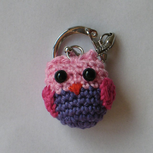 Crochet Owl Keychain Pattern and Tutorial - Darice | 640x640