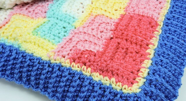 Free Pattern Easy And Wonderfully Textured Patchwork Baby Blanket