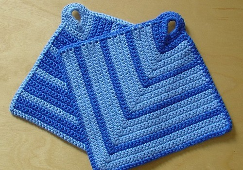 [Free Pattern] Really Simple And Great Potholder Pattern - Knit And Crochet D...